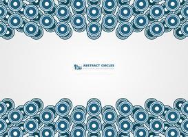Abstrakt blå cirklar mönster design linjer presentation bakgrund. illustration vektor eps10