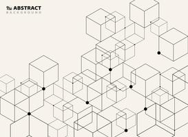 Fondo di modello geometrico nero semplice astratto di progettazione del modello.