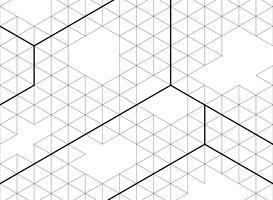 O hexágono abstrato esboça a cor preta do fundo moderno da decoração do teste padrão. Você pode usar para o trabalho artístico, presente, relatório anual, design moderno de geométrica.