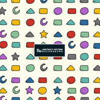 Abstrakt färgrik geometrisk mönster design för barn bakgrund. Du kan använda för pappersförpackning, annons, affisch, utskrift.