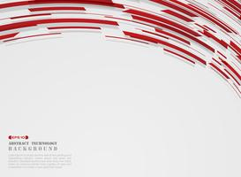 Abstract of high technology motion gradient red stripe lines pattern background.