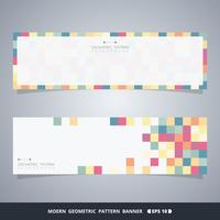 Abstract colorful cube banners of modern decoration concept.