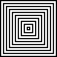 Extracto del fondo blanco y negro de la pirámide cuadrada.