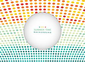 Summer time of colorful dot in nature tone background with copy space.