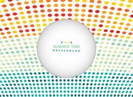 Horario de verano de punto colorido en el fondo de tono de naturaleza con espacio de copia.