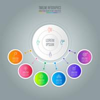 infographic design business concept with 6 options.