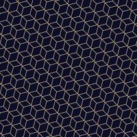 Abstract of golden lines polygonal geometric pattern. A seamless vector on dark blue background.