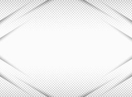 El papel abstracto cortó en la pendiente del gris en fondo de semitono del patrón de la simetría con el espacio de la copia. Usted puede utilizar para la presentación, anuncio, cartel, obra de arte.