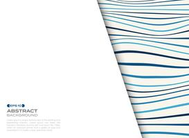 Abstract cover of blue wavy pattern with free space of text background.
