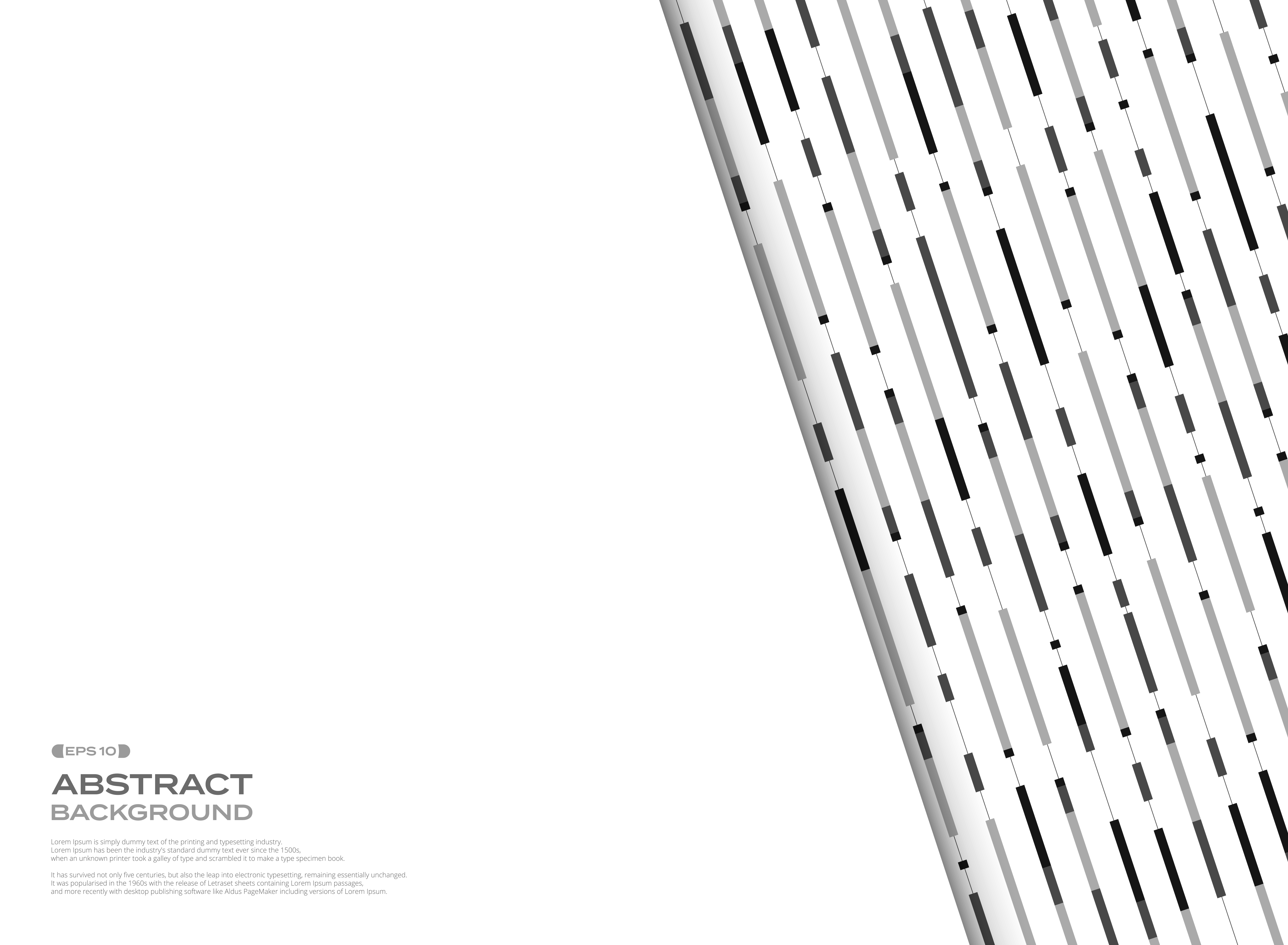 Abstract black and white geometric stripe lines pattern