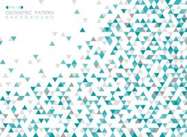Abstract of blue triangle geometric pattern cover background.