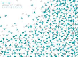 Zusammenfassung des geometrischen Muster-Abdeckungshintergrundes des blauen Dreiecks.
