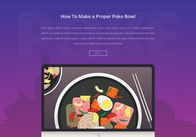 Poke bowl illustration des aliments sains.