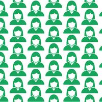 Pattern background people user icon