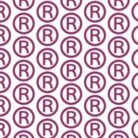 Pattern background Registered Trademark icon