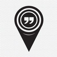 Map Pointer Quote Sign Icon