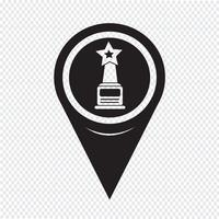 Map Pointer star award icon