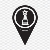 Icona puntatore stella mappa puntatore