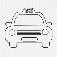 Taxi auto pictogram