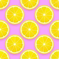 Fresh Lemon Seamless Pattern Vector Background