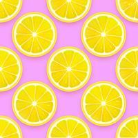 Färsk citron sömlös mönster vektor bakgrund