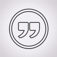 Icono de signo de comillas, comillas