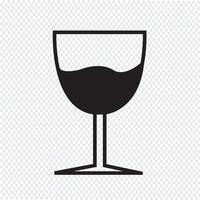 Icona della bevanda di vetro