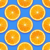 Fresh Orange Seamless Pattern Vector Background
