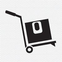 cuadro logístico icono