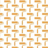 paint roller pattern background vector