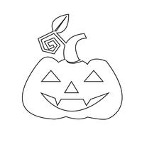 Halloween pompoen pictogram
