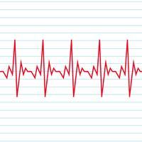 Icono de cardiograma de latido del corazón