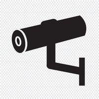 Icono de CCTV, CCTV, icono de seguridad, cámara CCTV