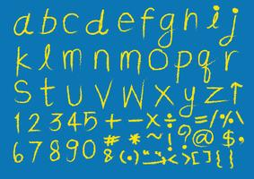 Fonte de mão desenhada letras