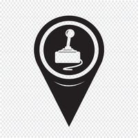 Icono de controlador de juego de puntero de mapa