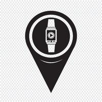Map Pointer Smartwatch Wearable Icon