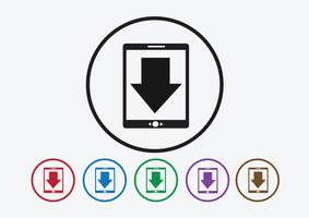Ícone de download e botão Upload symbol