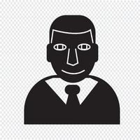 Signe de symbole icône homme d'affaires
