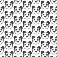 Panda pattern background