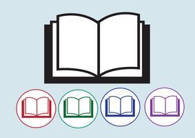 Icono de libro símbolo signo