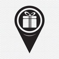 Map Pointer Gift Box Icon