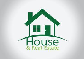 House icon and  Real Estate Building abstract design  vector