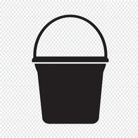 Bucket icon  symbol sign