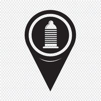 Icône de préservatif Map Pointer