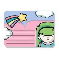 Note artistiche di pixel mockup