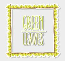 Cadre de feuilles vertes