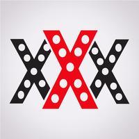Símbolo de ícone de símbolo XXX