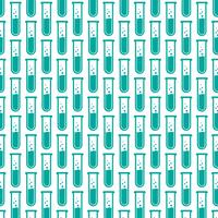 Lab Tube Icon pattern background