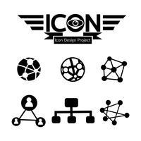Netzwerk Symbol Symbol Zeichen