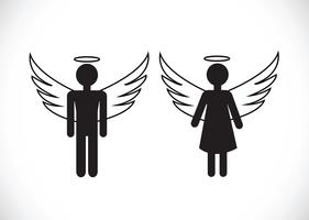 Pictogram  Angel Icon Symbol Sign vector